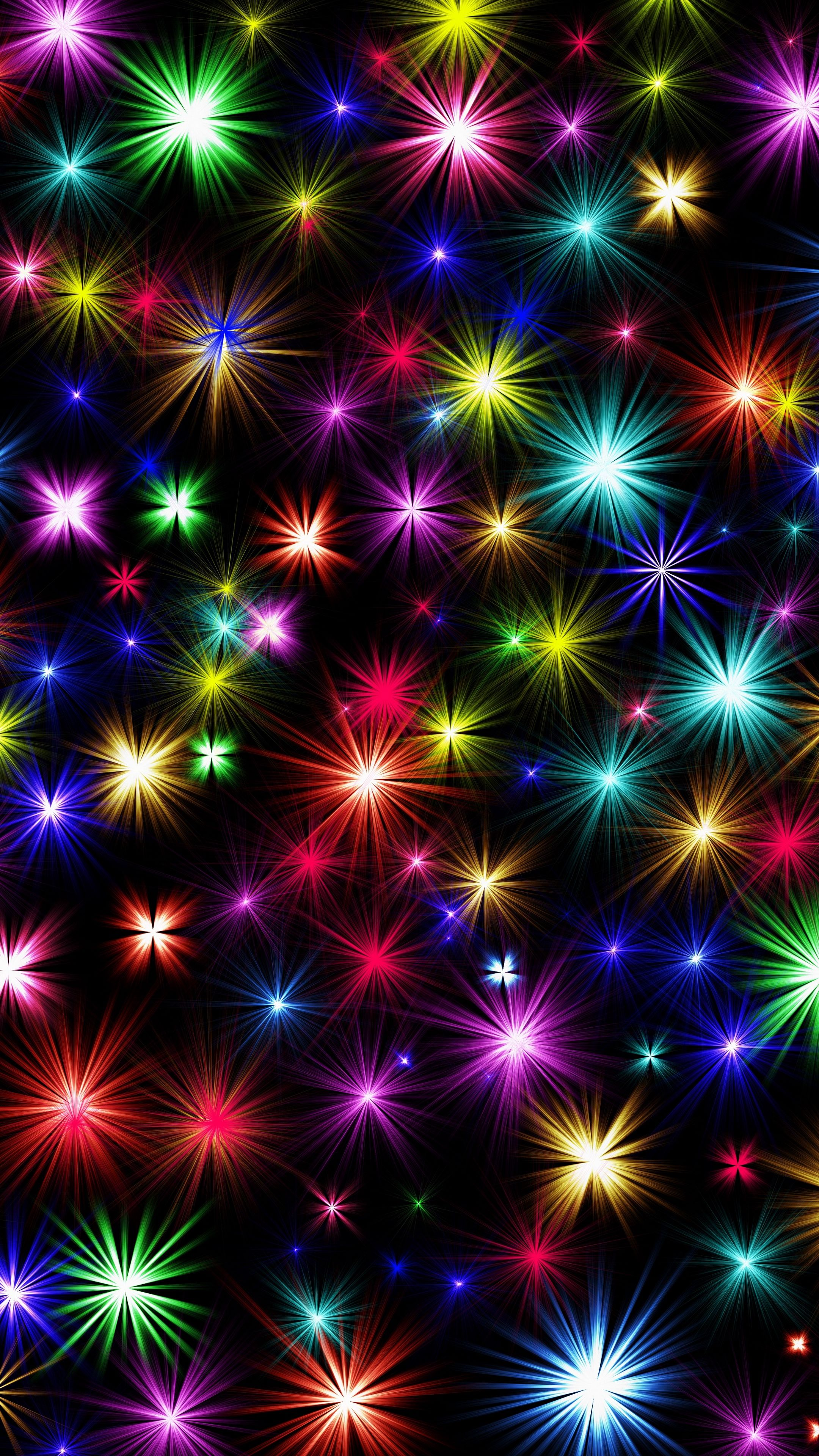 Abstract Sparks Colorful Fireworks Shine Android Wallpapers