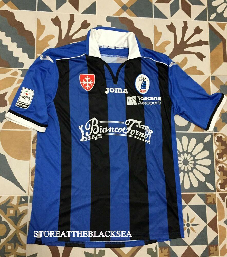 9fb3b62f98a AC Pisa 1909 2014 2015 HOME FOOTBALL SOCCER SHIRT JERSEY MAGLIA JOMA MEN  RARE L #JOMA #ACPisa1909