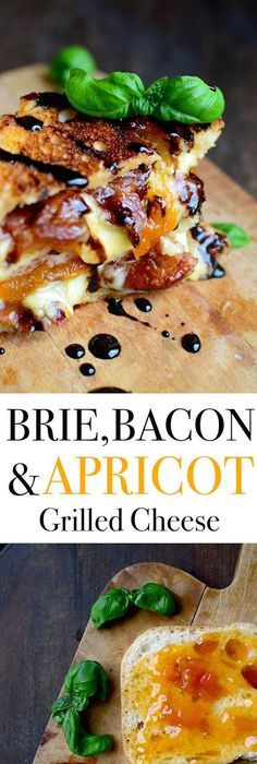 Bacon, Brie, and Apricot Grilled Cheese with Balsamic Reduction #grilleddesserts