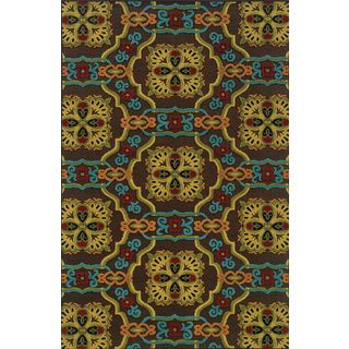 Machine-woven Indoor/ Outdoor Brown/ Multi Polypropylene Area Rug (7'10 x 10'10) | Overstock.com Shopping - Great Deals on Style Haven 7x9 - 10x14 Rugs