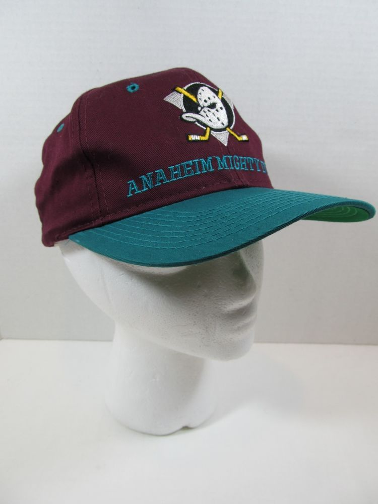b3db2198828d3 ANAHEIM Vintage MIGHTY DUCKS Hockey Snapback Hat Cap NHL Retro  AnaheimDucks