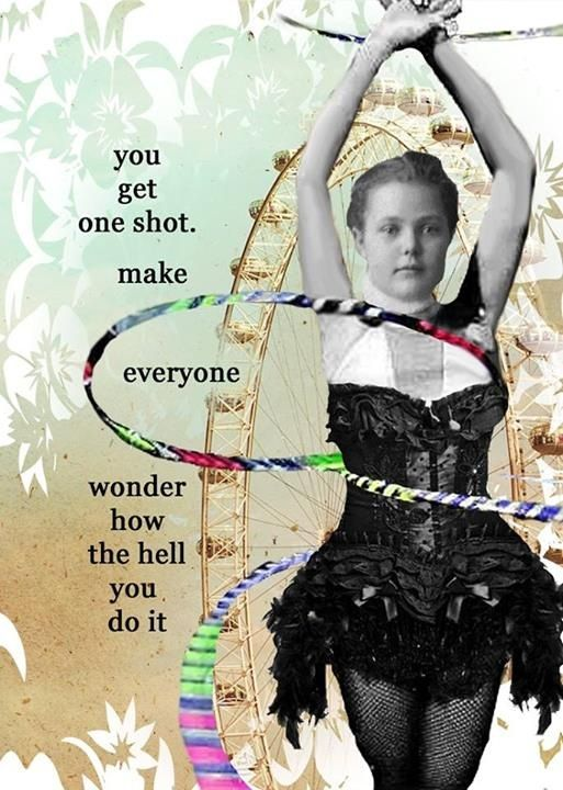 You get one shot