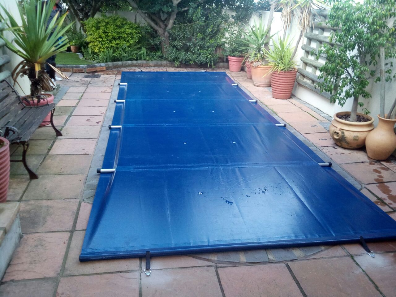 An Inground Swimming Pool Cover Take a Break from Pool