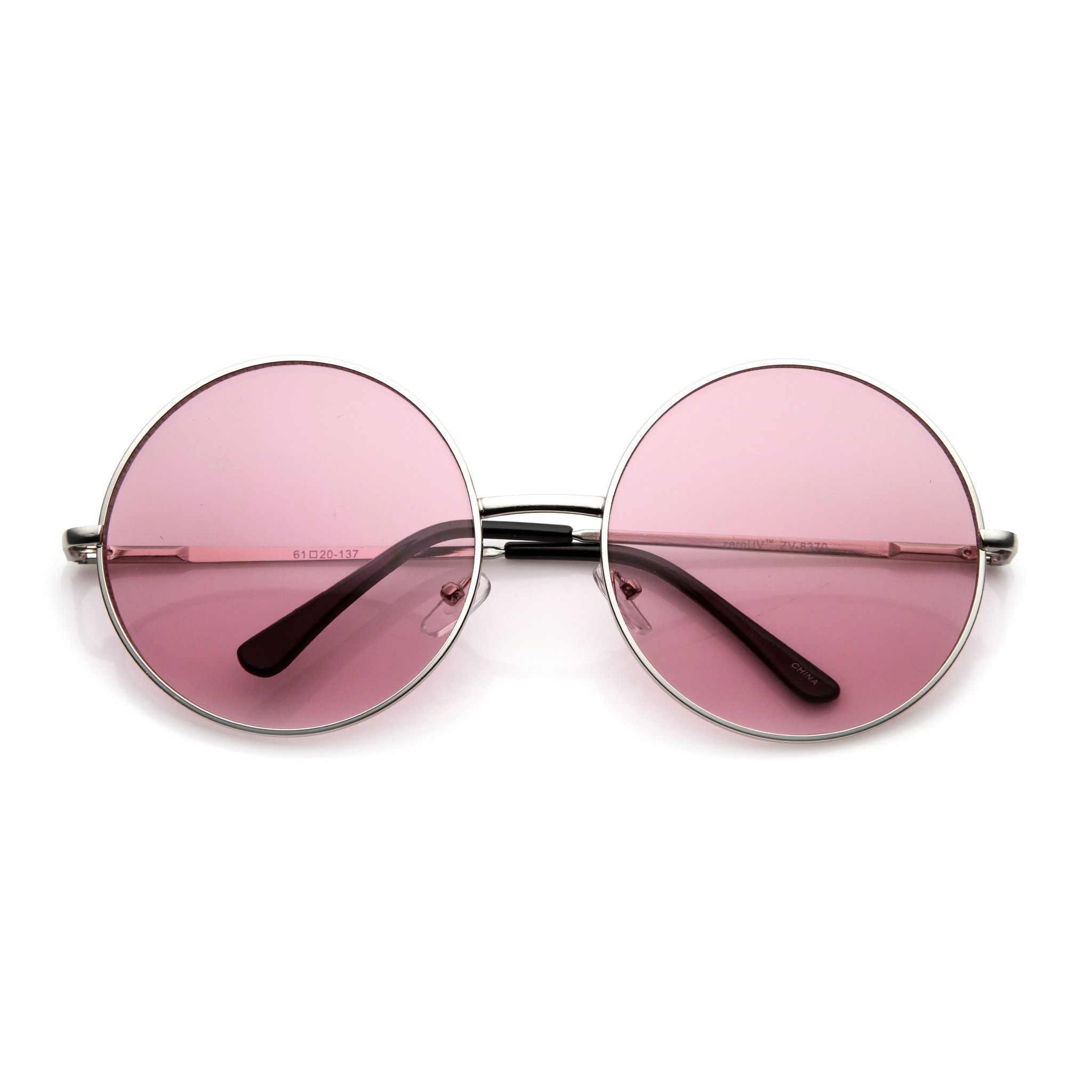 8b8b71a310 Oversize Vintage Inspired Metal Round Circle Sunglasses 8370