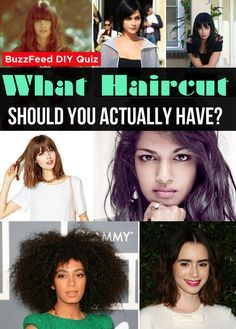 What Haircut Should You Actually Have Pop Quiz Pinterest Hair