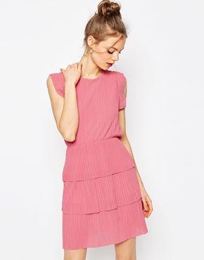 ASOS Mini Pleated Dress