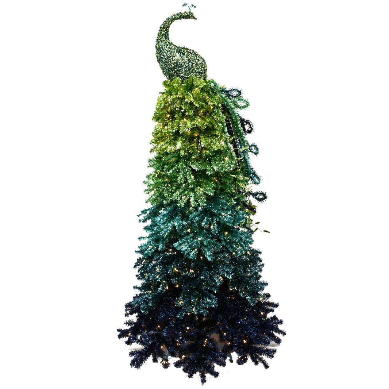 D13 7-ft Pre-Lit Peacock Christmas Tree | Holidays | Pinterest ...