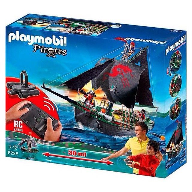 ¡Y resulta que ahora hay un barco pirata a RC! ¡LOCO ME VUELVO! ¡¡¡LOCO!!! #InfanciaReloaded #Playmobil
