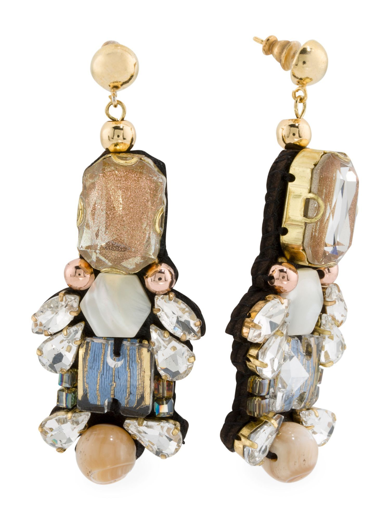 Designed In The Uk 18k Gold Plated Nel Statement Earrings