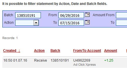 """I am getting paid daily at ACX and here is proof of my latest withdrawal. This is not a scam and I love making money online with Ad Click Xpress.""  ""Here is my Withdrawal Proof from AdClickXpress. I get paid daily and I can withdraw daily. Online income is possible with ACX, who is definitely paying - no scam here.""  ""I WORK FROM HOME less than 10 minutes and I manage to cover my LOW SALARY INCOME. If you are a PASSIVE INCOME SEEKER, then AdClickXpress (Ad Click Xpress) is the best ONLINE…"