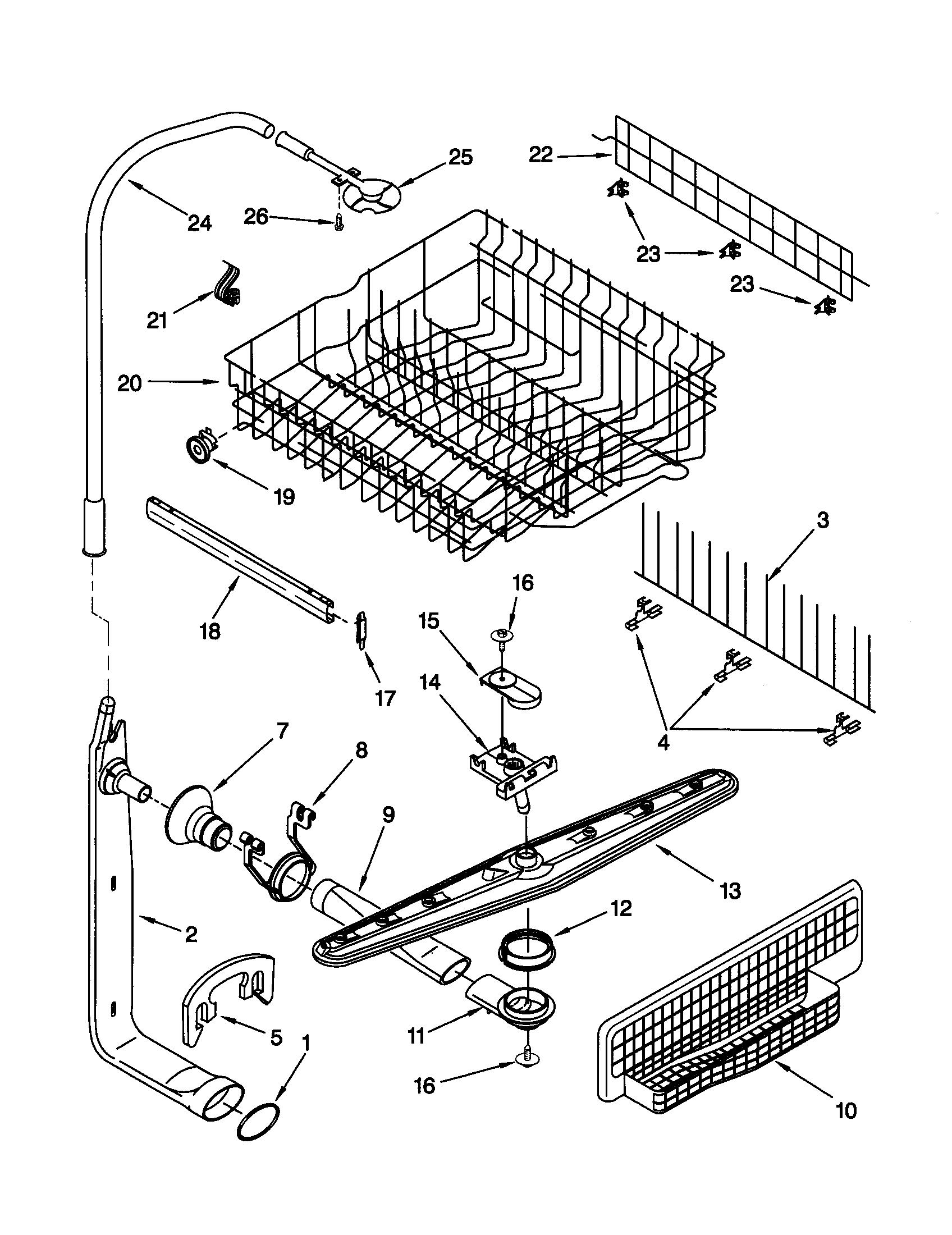 34 Kenmore Dishwasher Parts Diagram