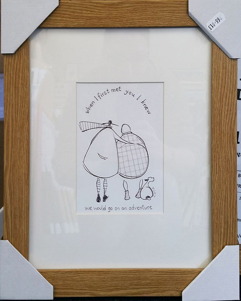 Only a couple of these frames mini prints left at ZanArt Kettering ...