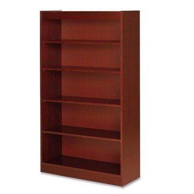 Lorell Five Shelf Panel Bookcase - 36quot; Width x 12quot ...
