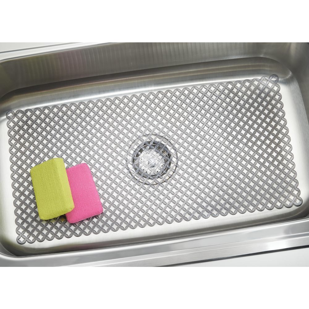 Extra Large Plastic Kitchen Sink Protector Mat With Diamond Pattern 12 X 25 In 2020 Sink Mats Sink Sink Sizes
