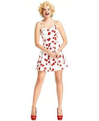 Marilyn Monroe Juniors Dress Sleeveless Cherry Print A Line Macys