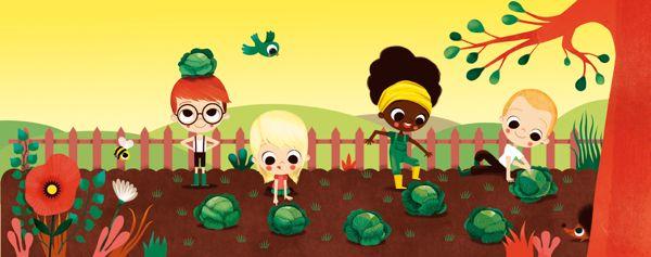 The farm's nursery rhymes by Lucie Brunellière, via Behance