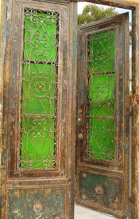 Green Glass Doors