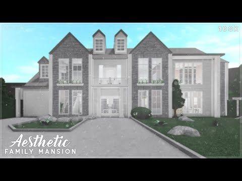 Bloxburg Aesthetic Family Mansion Speed Build Family House Plans Modern Family House Luxury House Plans