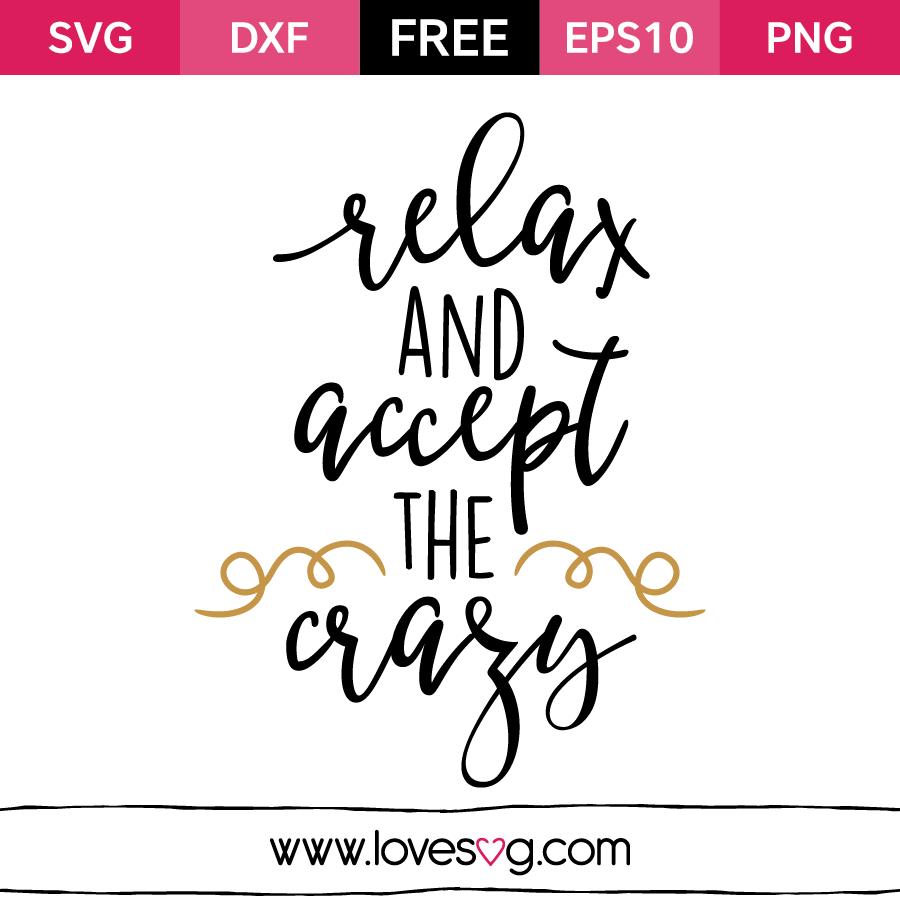 Download Relax and accept the crazy | Cricut, Cricut vinyl, Cricut ...