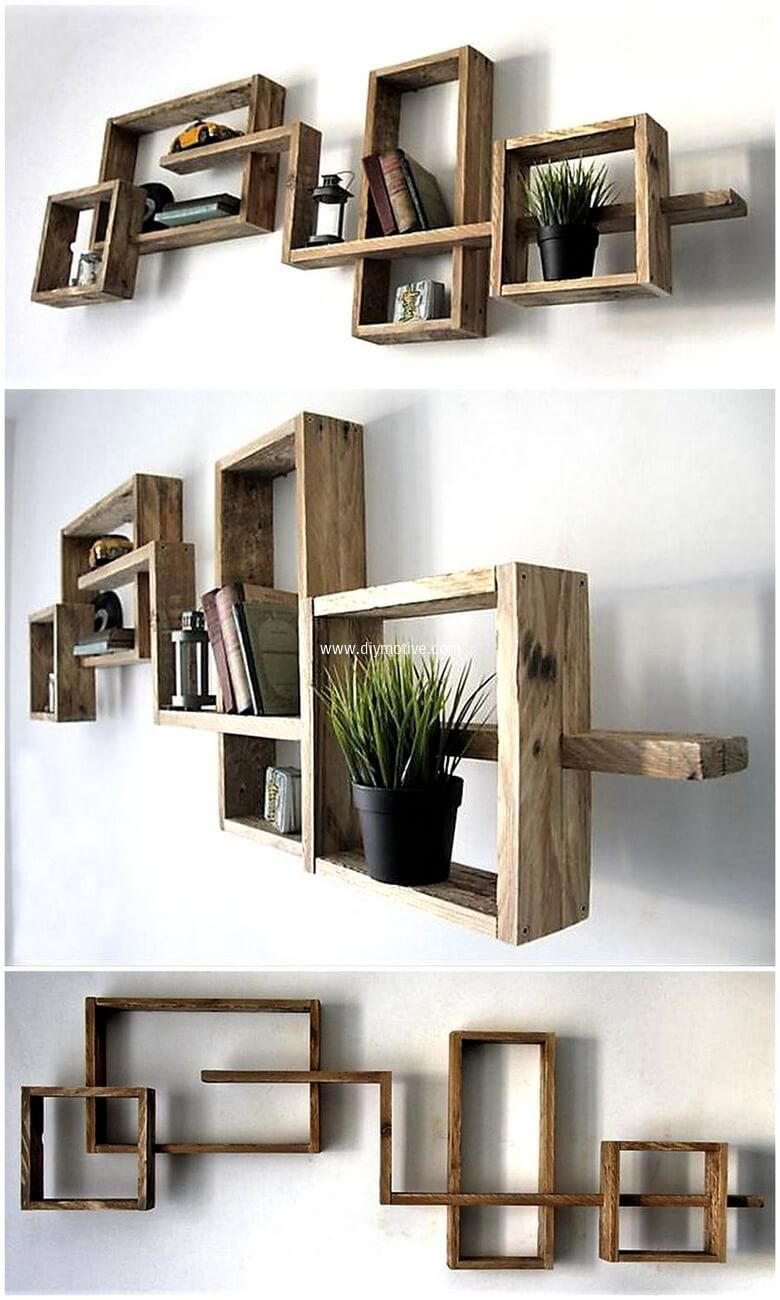 give your wall gorgeous look by crafting pallet artistic on simple effective and easy diy shelves decorations ideas the way of appearance of any space id=64691