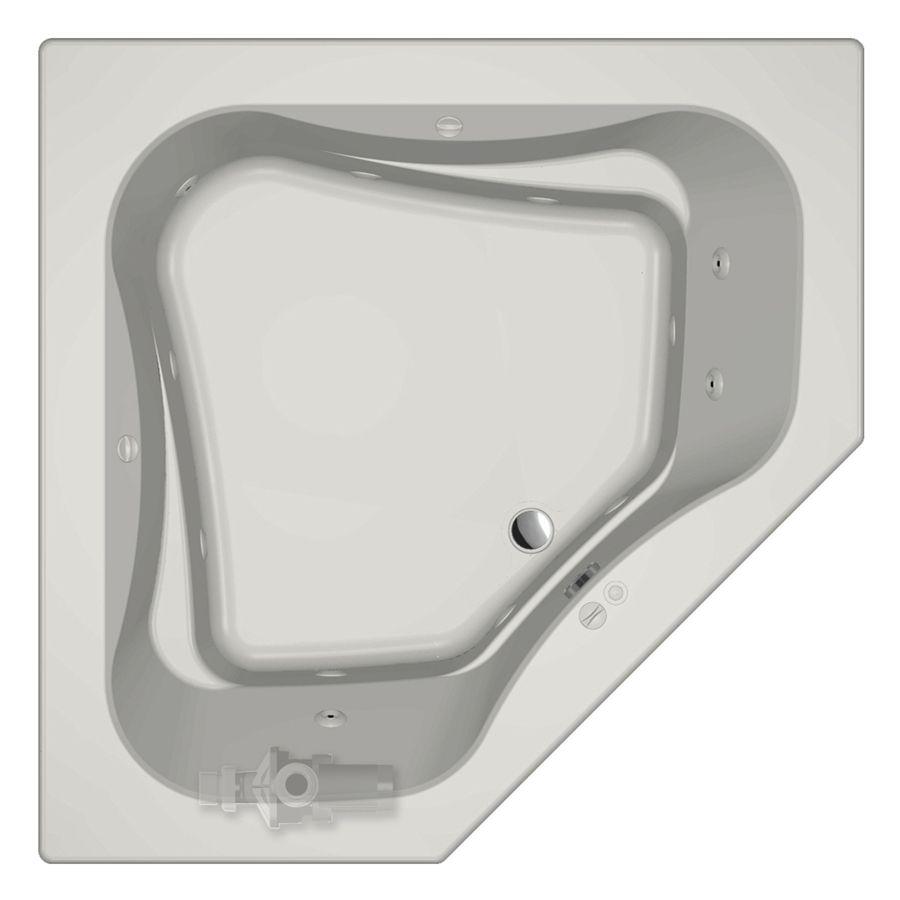 Jacuzzi Primo 2-Person White Acrylic Corner Whirlpool Tub (Common ...