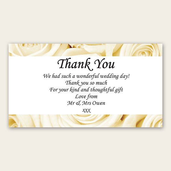 wedding thank you wording Bridal Shower Thank You Wording - free thank you card template for word