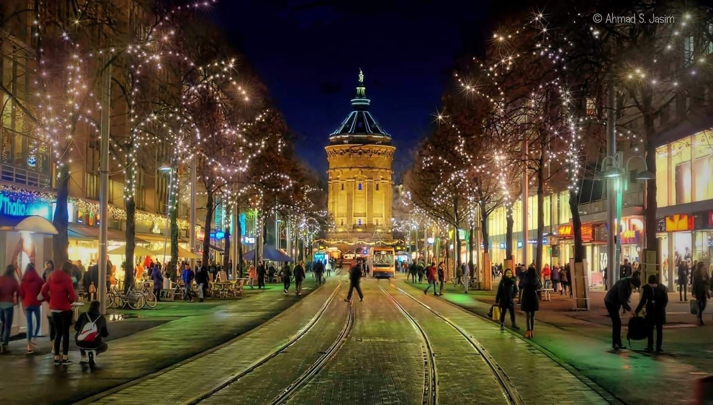Downtown Mannheim, Germany  | Places I Have Been in 2019