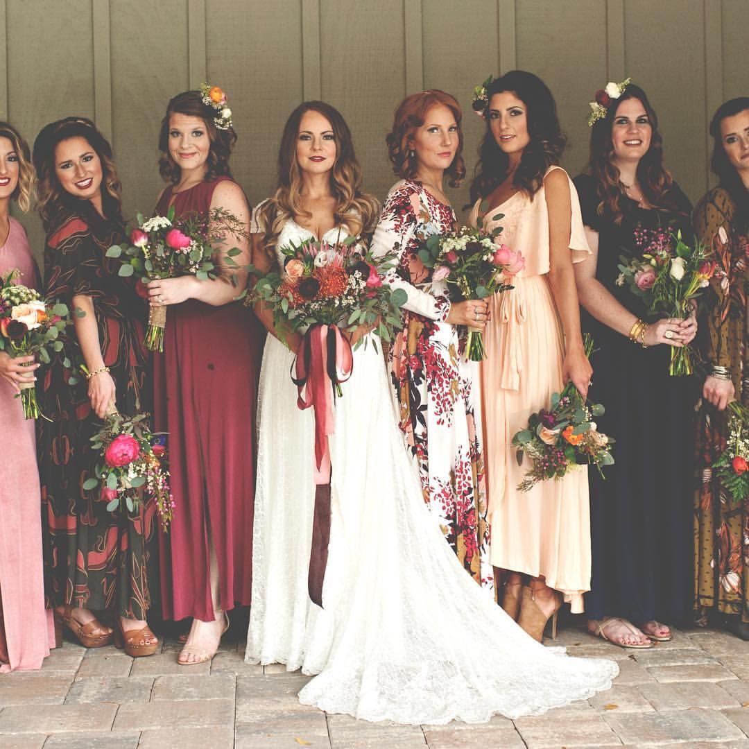Christina p instagram im not sure how to even caption this gorgeous mix n match free people bridesmaid gowns christina block photography ombrellifo Gallery