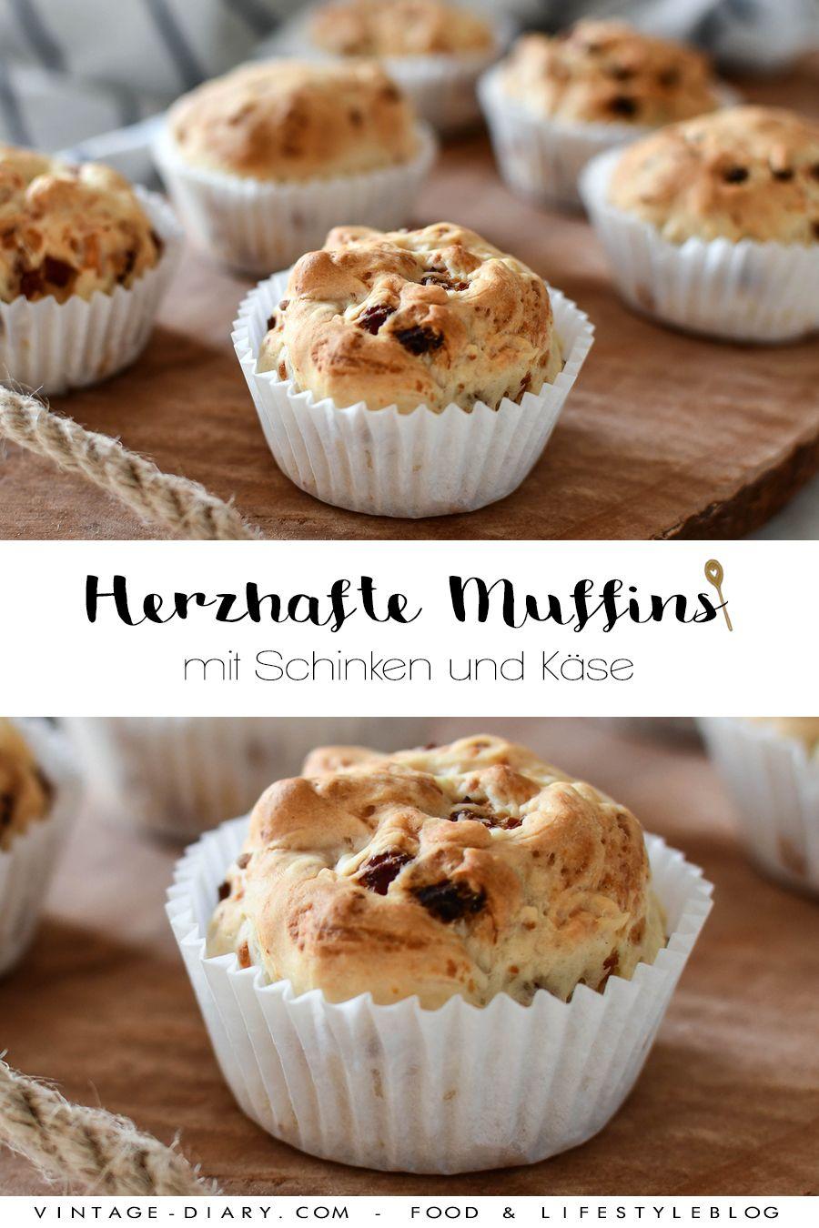 Herzhafte Schinken - Käse Muffins - vintage-diary