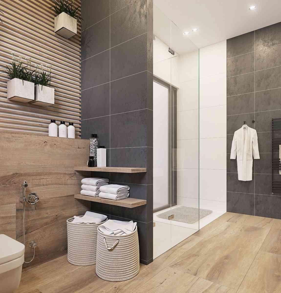 Salle de bain gris et bois : idées et astuces pour une déco ...