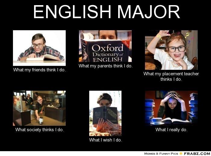English Major English Major English Major Humor English Major Meme