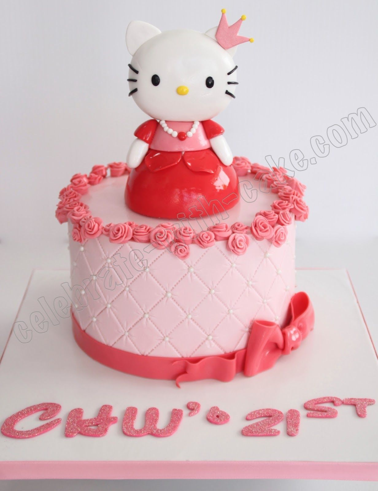 21st Birthday Princess Hello Kitty Cake Hellotty Pinterest