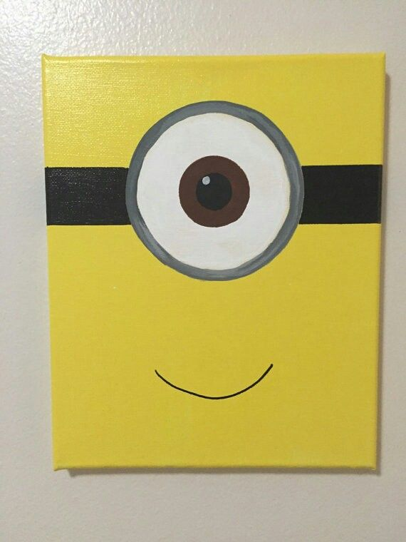 Minion Kids Canvas Painting Kids Canvas Art Mini Canvas Art