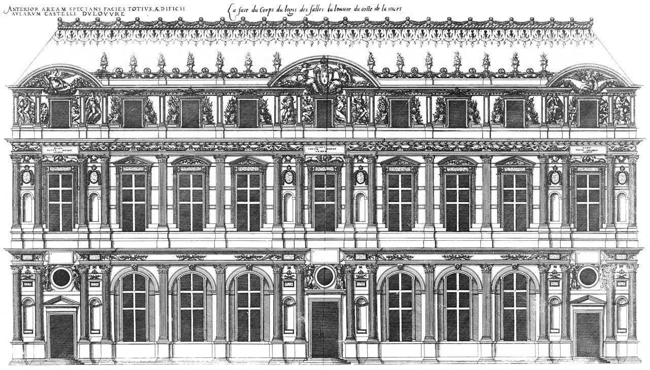 From Wikiwand: Court facade of the Lescot Wing, engraved by