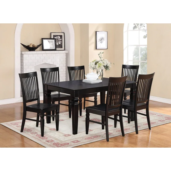 Overstock Com Online Shopping Bedding Furniture Electronics Jewelry Clothing More Black Dining Room Solid Wood Dining Set Black Dining Room Sets