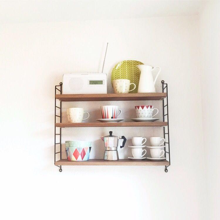 String Pocket Nussbaum\/schwarz Ideas for a future Home - küche deko wand