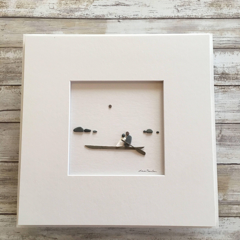 Couple on the Water, Pebble Art, Minimal Art, Original Art by Sharon ...