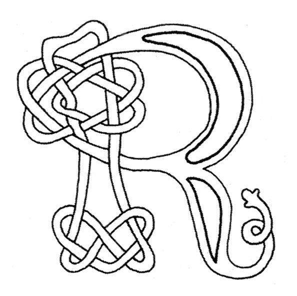 Free Celtic knot letters for coloring | Celtique / Celtic ...