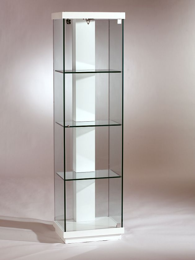 Charmant White Accent Glass Curio 6633 Cur