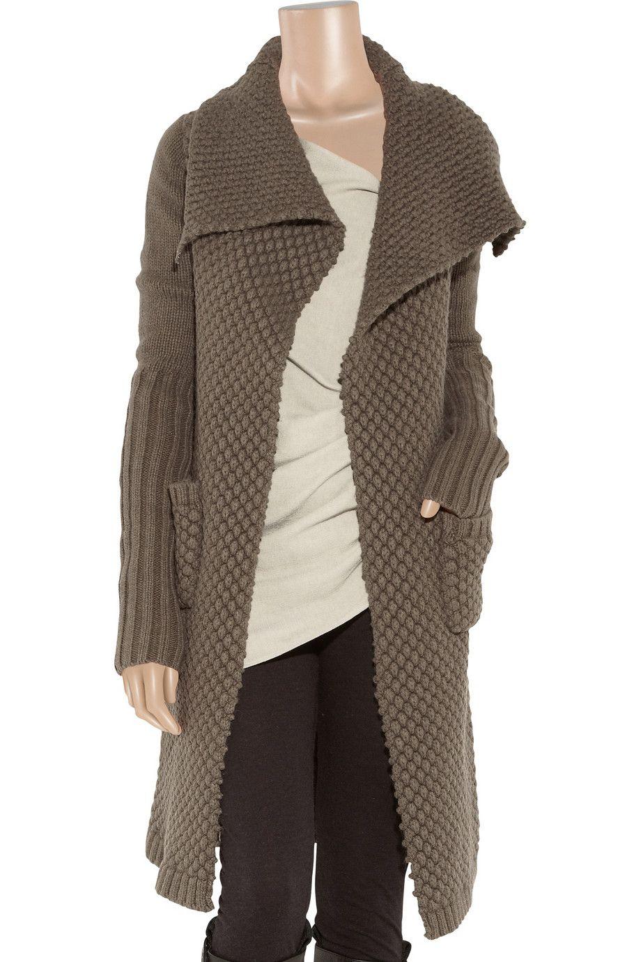 Alpaca and silk-blend cardi-coat by Rick Owens - a beautiful dream ...