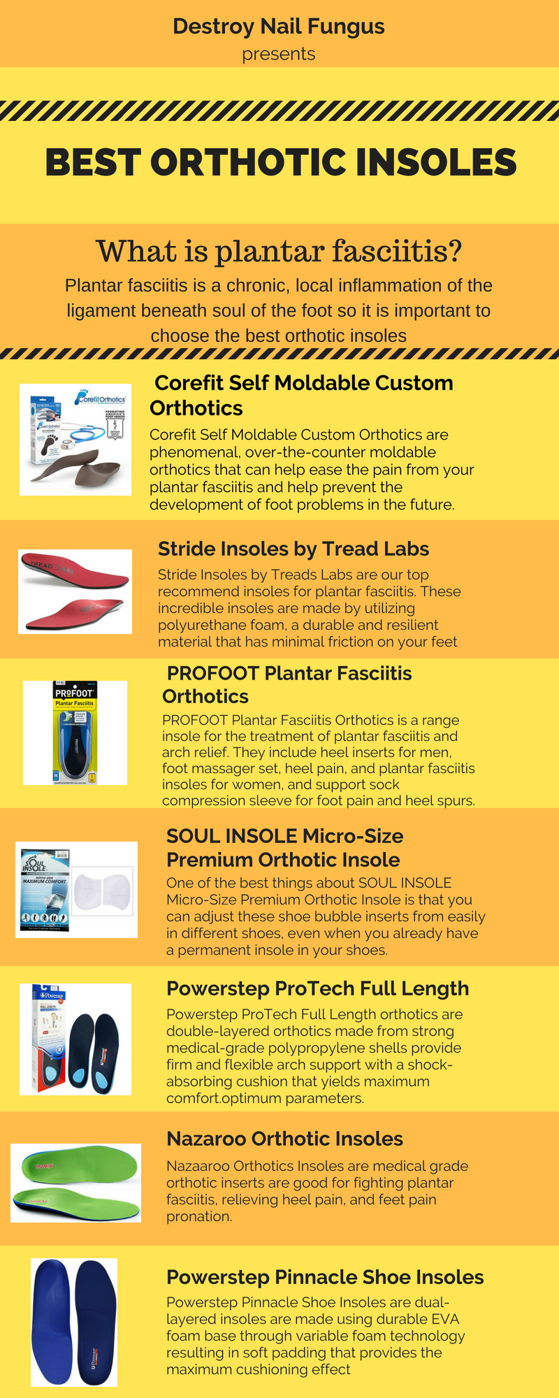 06ea19589c Are you suffering from the Plantar fasciitis? Seeking the best over the counter  orthotics is not an easy task but Destroy Nail Fungus have done the  research ...