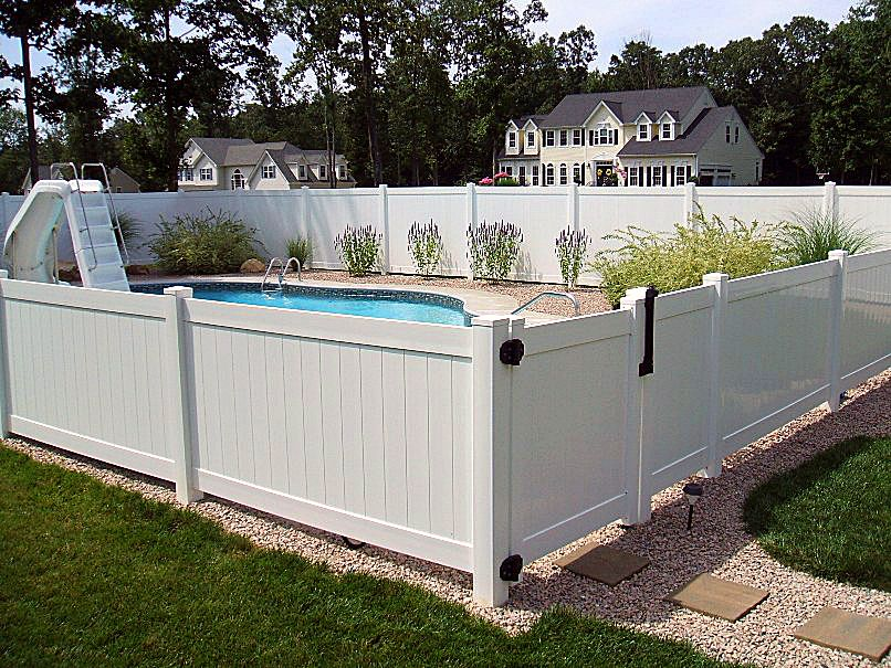 Vinyl Privacy Half Height Fence Privacy Fences Pool Fence Vinyl Fence