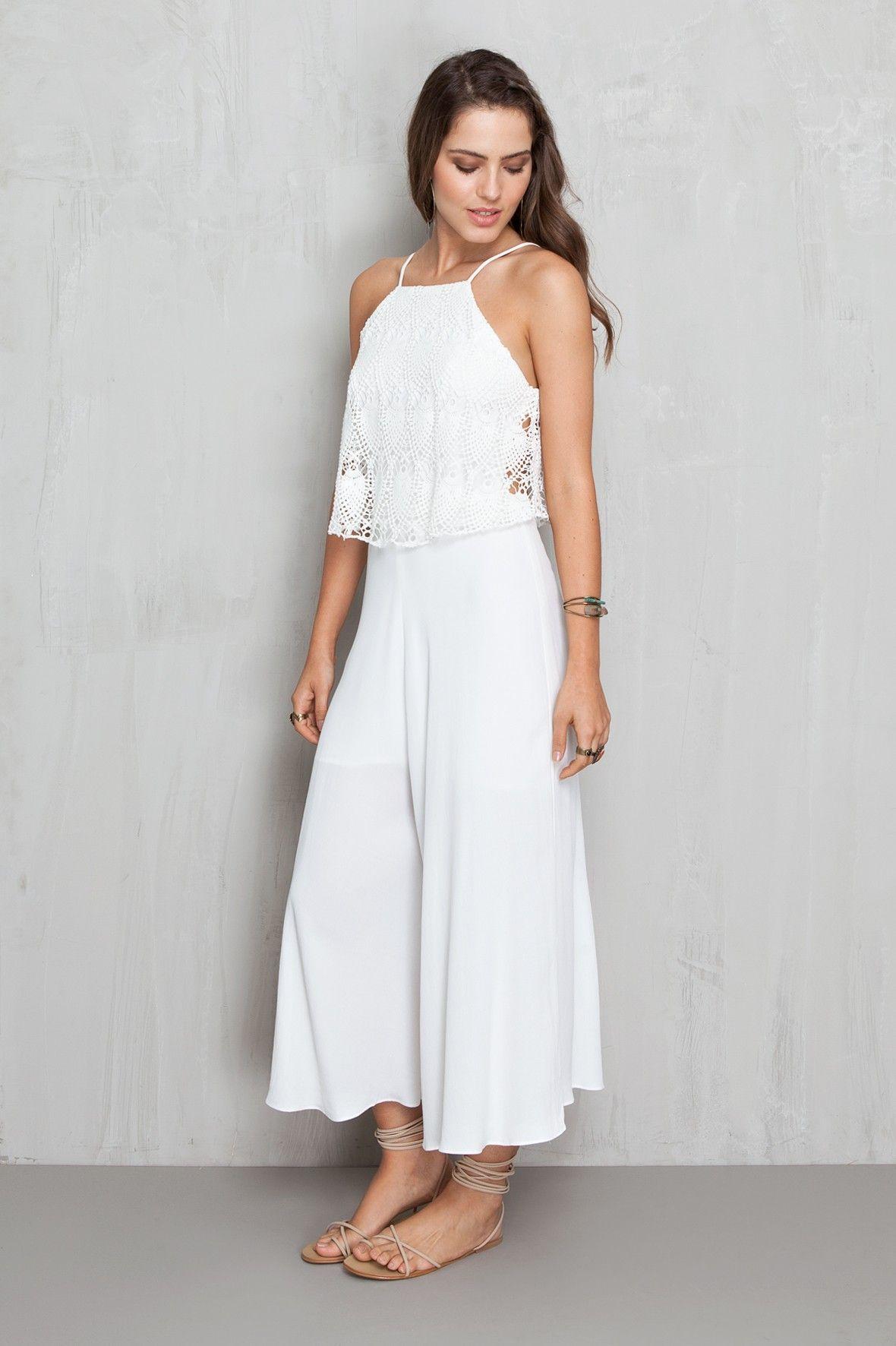 c349aa89a macacão pantacourt top guipure - Macacão | Dress to | Ropa de verano ...