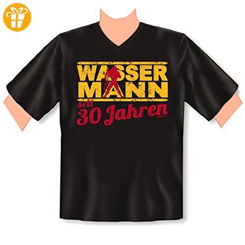 V-Neck T-Shirt ::: Wassermann seit 30 Jahren ::: zum Geburtstag  (*Partner-Link)