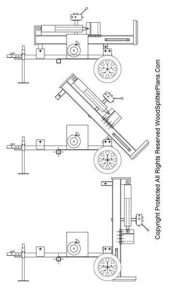 vertical wood splitter plans helpful things and projects rh pinterest com Huskee Log Splitter Valve Diagram Huskee Log Splitter Schematic