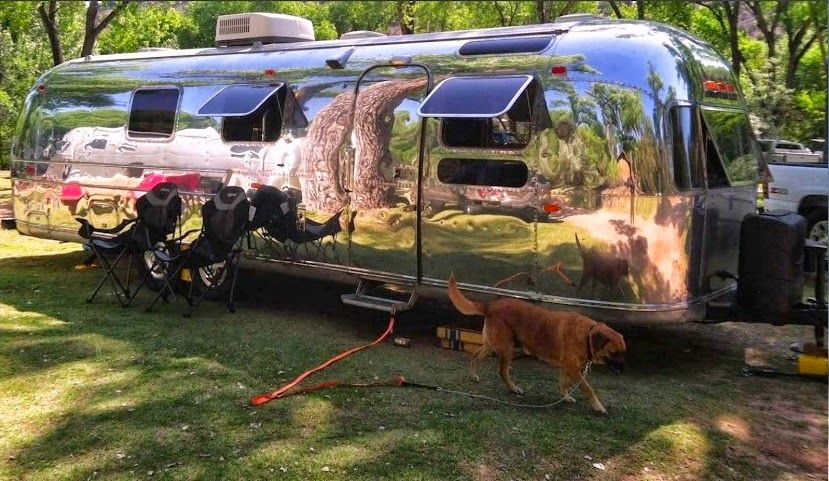 One Of The Best Improvements For An Airstream Is Polishing The Aluminum The Average Price For Having An Airst Airstream Airstream Renovation Vintage Airstream