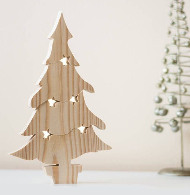Wooden Christmas Tree Puzzle Ornament Trees