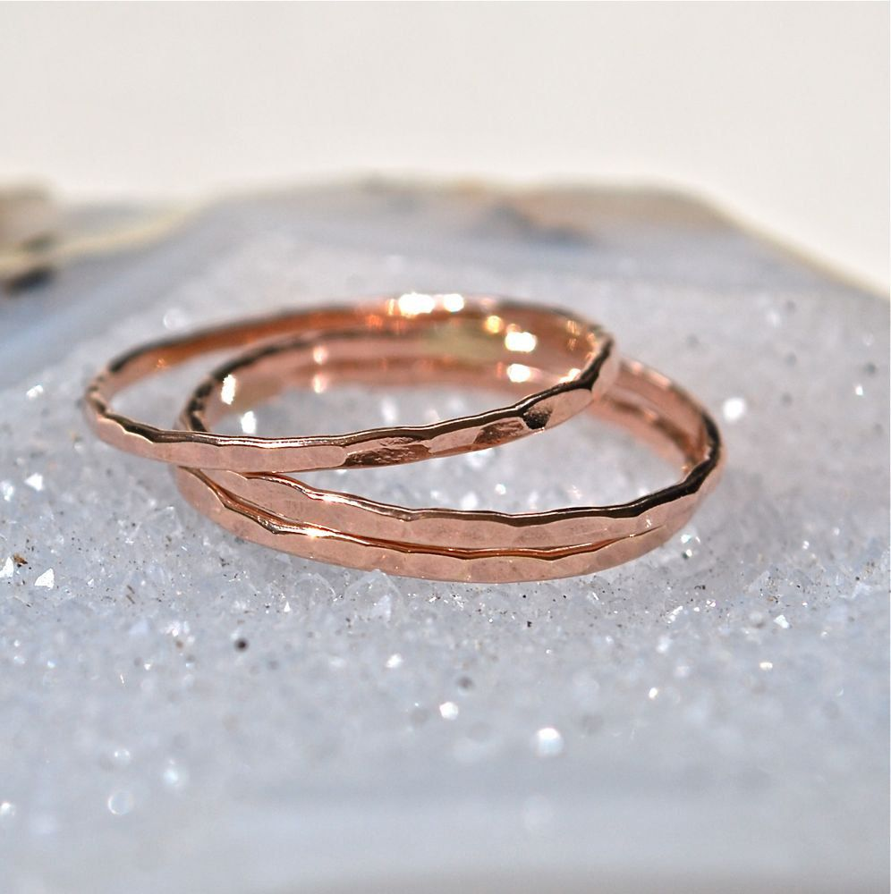 6 Rose Gold Rings  The Skinny Stack by JLaurynDesign on Etsy, $54.00