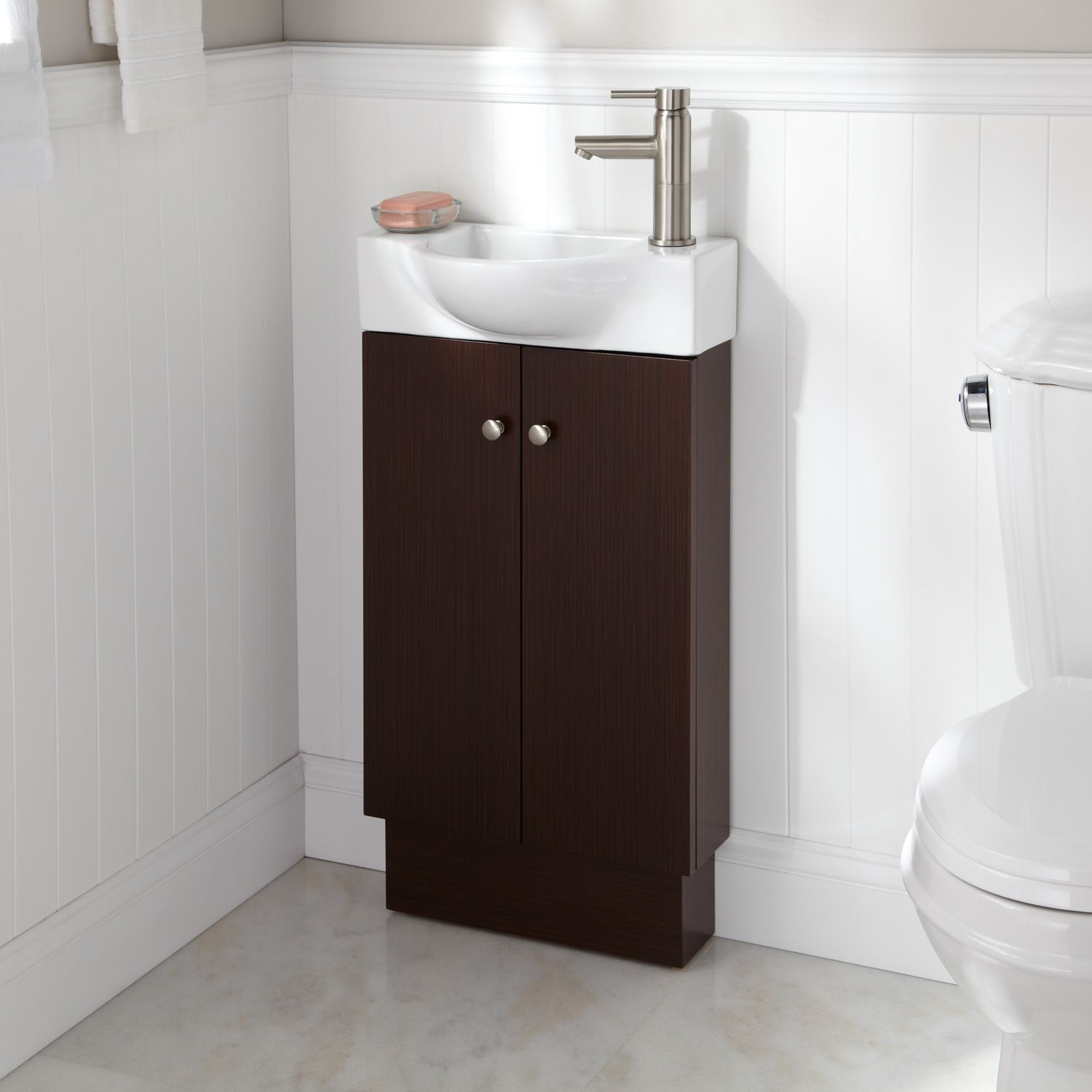splashbacks for bathroom sinks 18 quot utica vanity wenge wow seriously tiny less than 20619