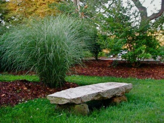 Naturstein Gartenbank Garten rustikaler Stil | Gardening | Pinterest ...